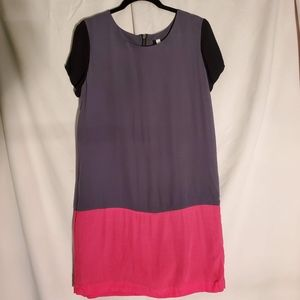 Kensie Color block dress midi length with zipper